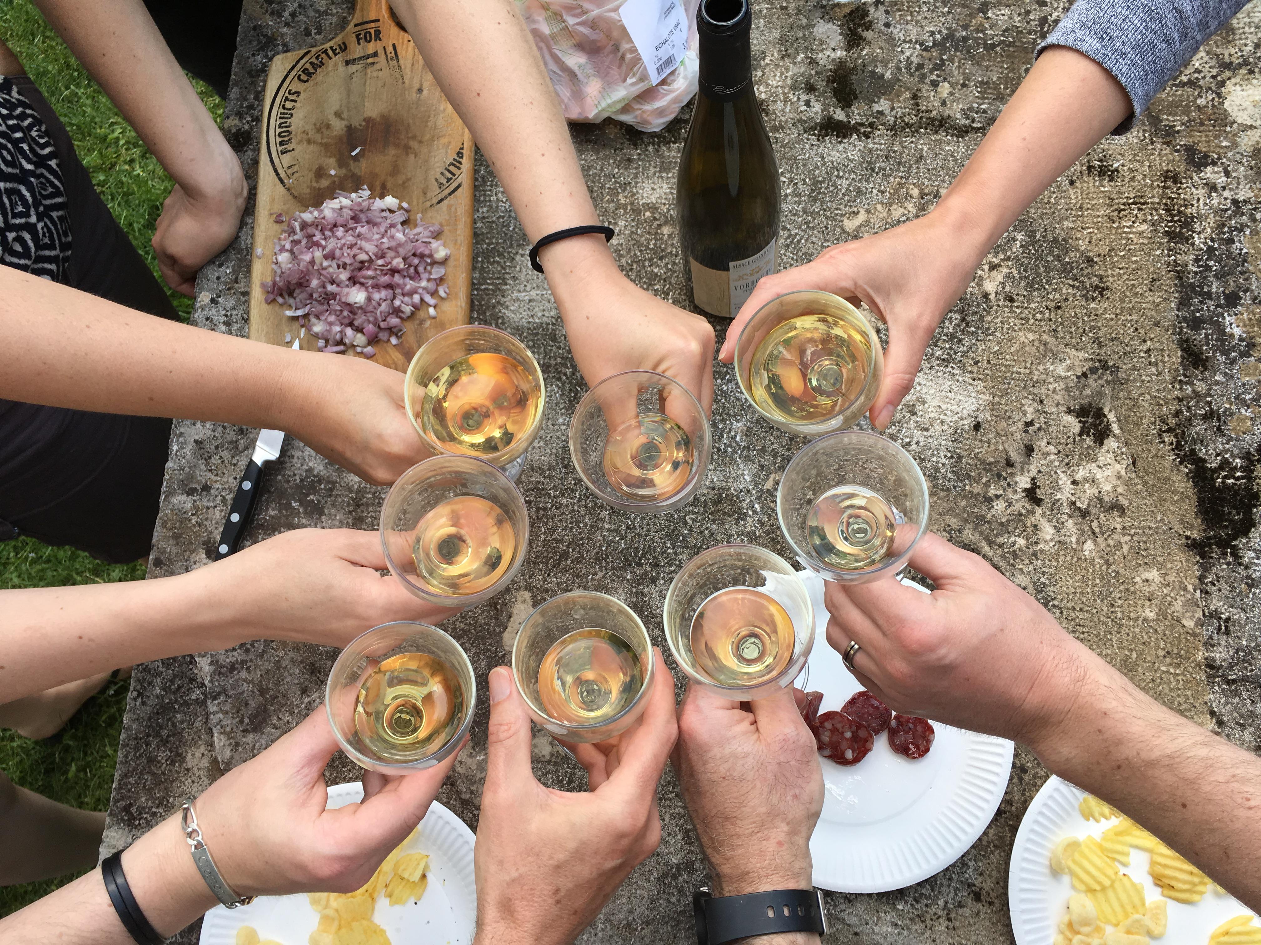 Tchin au crémant de Bourgogne