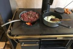 Sur la cuisinière